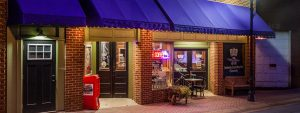 Ellijay's Coffee House Front Entrance at Night
