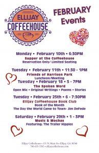 Ellijay CoffeeHouse February Events